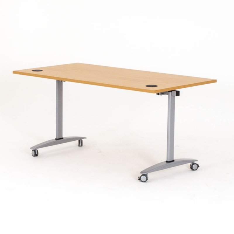 Table de r union sur roulettes rabattable vista modulable bd mobilier - Table a repasser large plateau ...