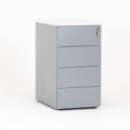 Caisson hauteur bureau CUB en métal , 4 tiroirs