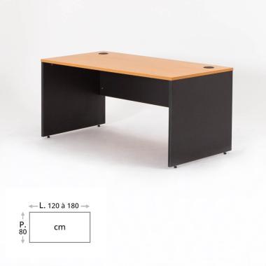 bureau bois droit et angle madera bdmobilier. Black Bedroom Furniture Sets. Home Design Ideas