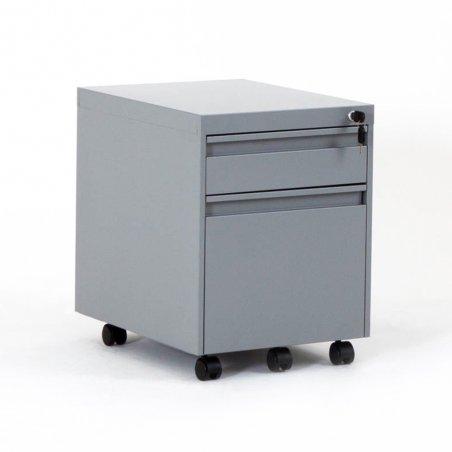 Caisson à roulettes EKO en métal, 1 tiroir et 1 tiroir pour dossiers suspendus