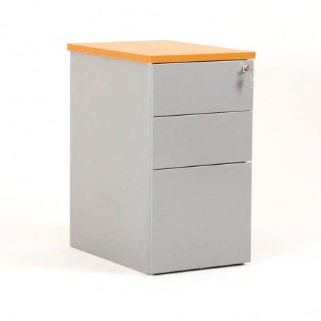 Caisson hauteur bureau CUB métal 2 tiroirs / 1 tiroir suspendu