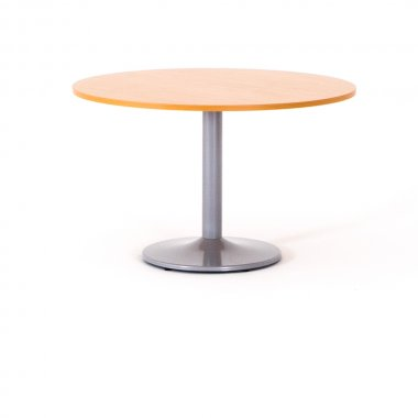 Table ronde, piétement tulipe aluminium