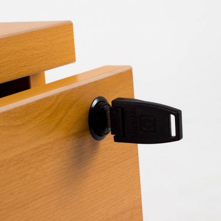 Bureau compact MADERA + caisson hauteur bureau P.80 cm