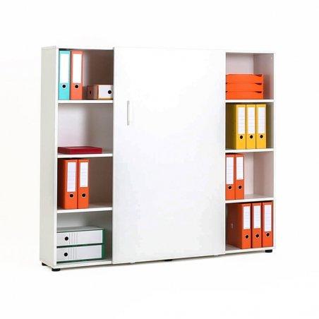 Armoire de bureau porte coulissante en bois