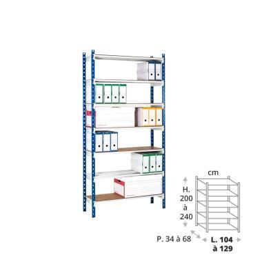 Rayonnage archives 150 kg - 1 élément