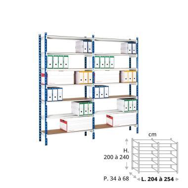 Rayonnage archives 150 kg - 2 éléments