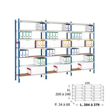 Rayonnage archives 150 kg - 3 éléments
