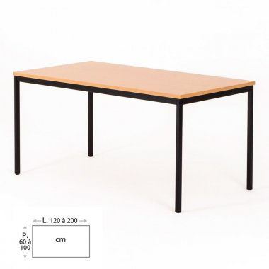Table de bureau rectangulaire ZIK