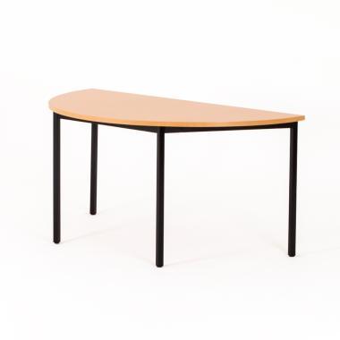 Table polyvalente demi-lune