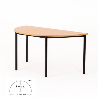Table de bureau demi-lune ZIK