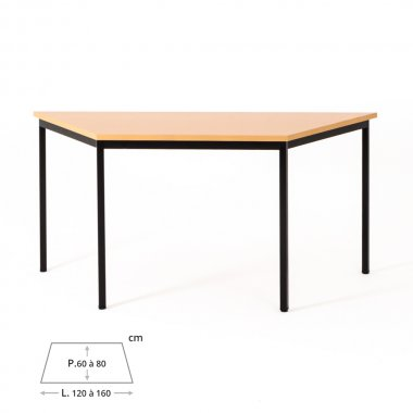 Table de bureau trapézoïdale ZIK