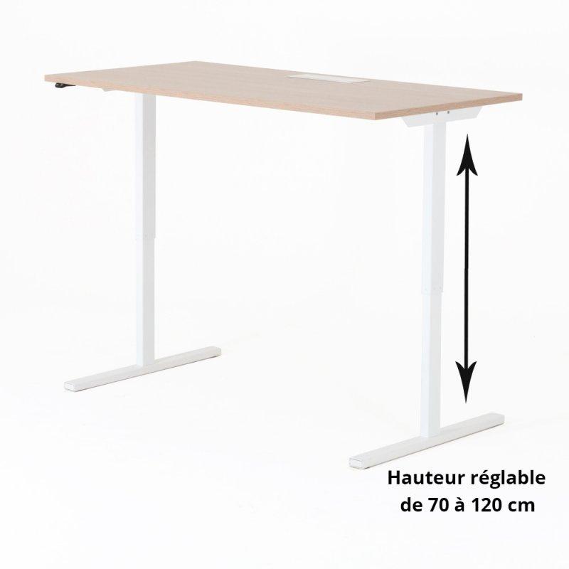 bureau assis debout lectrique hup bdmobilier. Black Bedroom Furniture Sets. Home Design Ideas