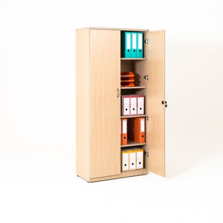 Armoire de bureau portes battantes en bois