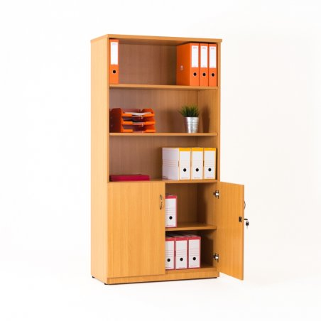 Armoire bibliothèque en bois