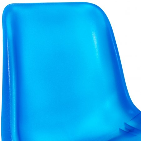 Chaise coque translucide CHIPY