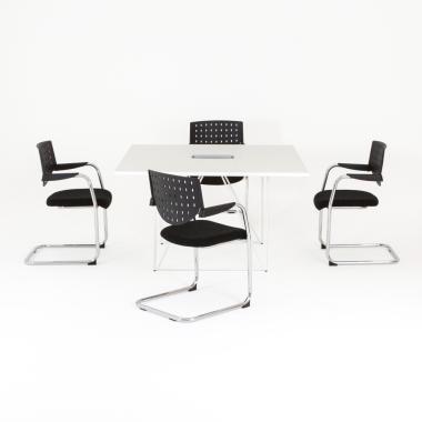 Table carrée Epure L.130 x P.130 cm