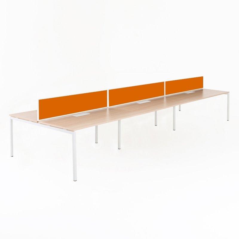 Bureau bench 6 personnes professionnel ylo bd mobilier for Bureau 6 personnes