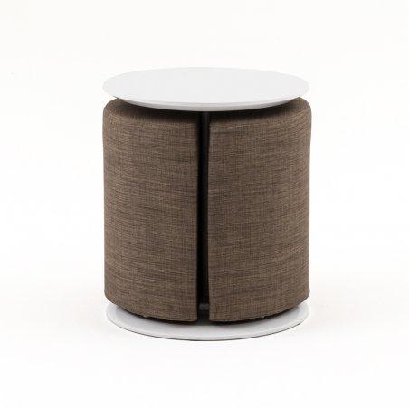 Table basse DUO avec pouf intégré