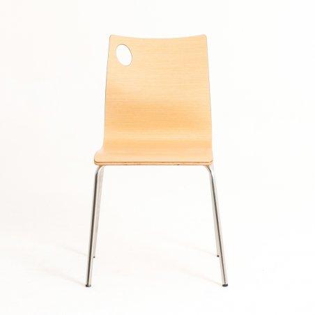 Chaise en bois 4 pieds IRIS