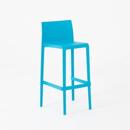 Tabouret haut IPSY, vue 3/4 , turquoise
