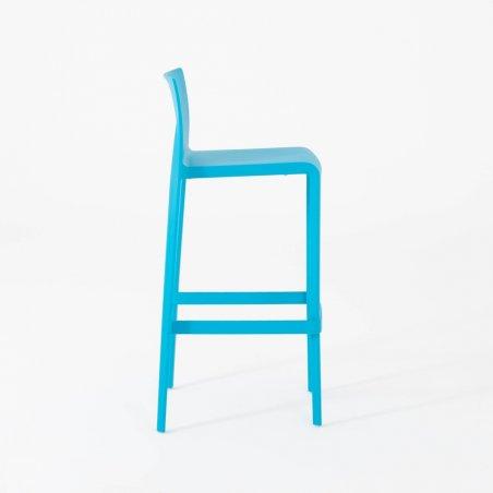 Tabouret haut IPSY, vue profil, turquoise