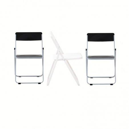 Chaise pliante OPTU, vue avec les 3 chaises