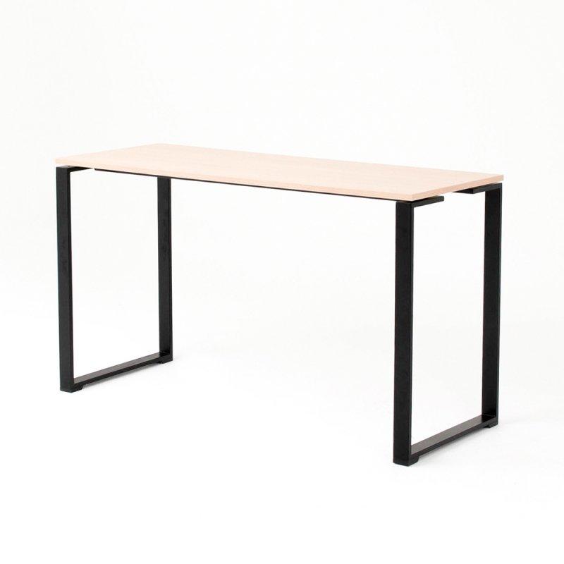 Table haute BIZ, plateau chêne clair piétement noir