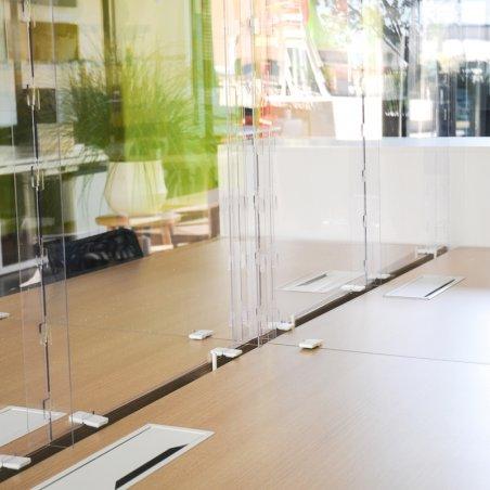 Barrière plexi pour bureaux