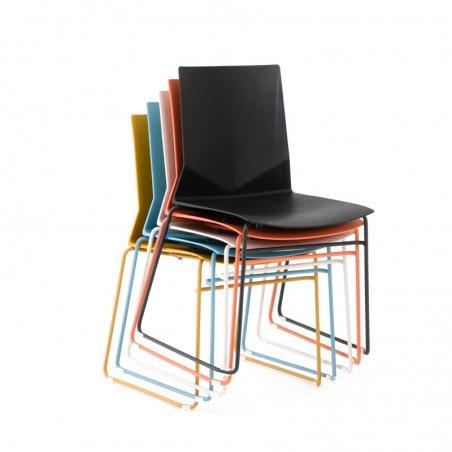 Chaise luge de bureau KALI, vue empilées des chaises