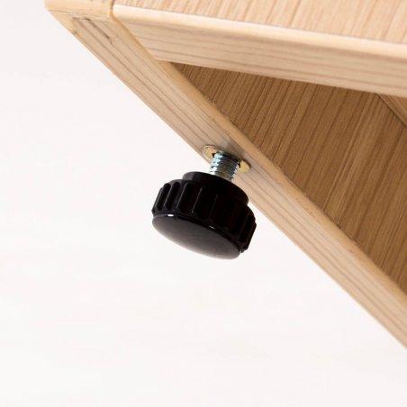 Zoom sur le patin réglable du caisson hauteur bureau en bois LUDY