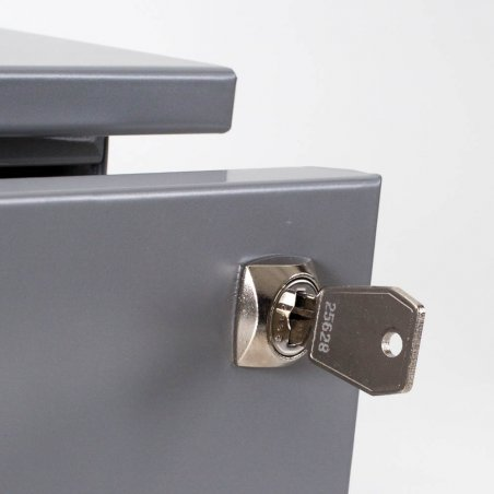 Caisson à roulettes en métal, 1 tiroir et 1 tiroir pour dossiers suspendus