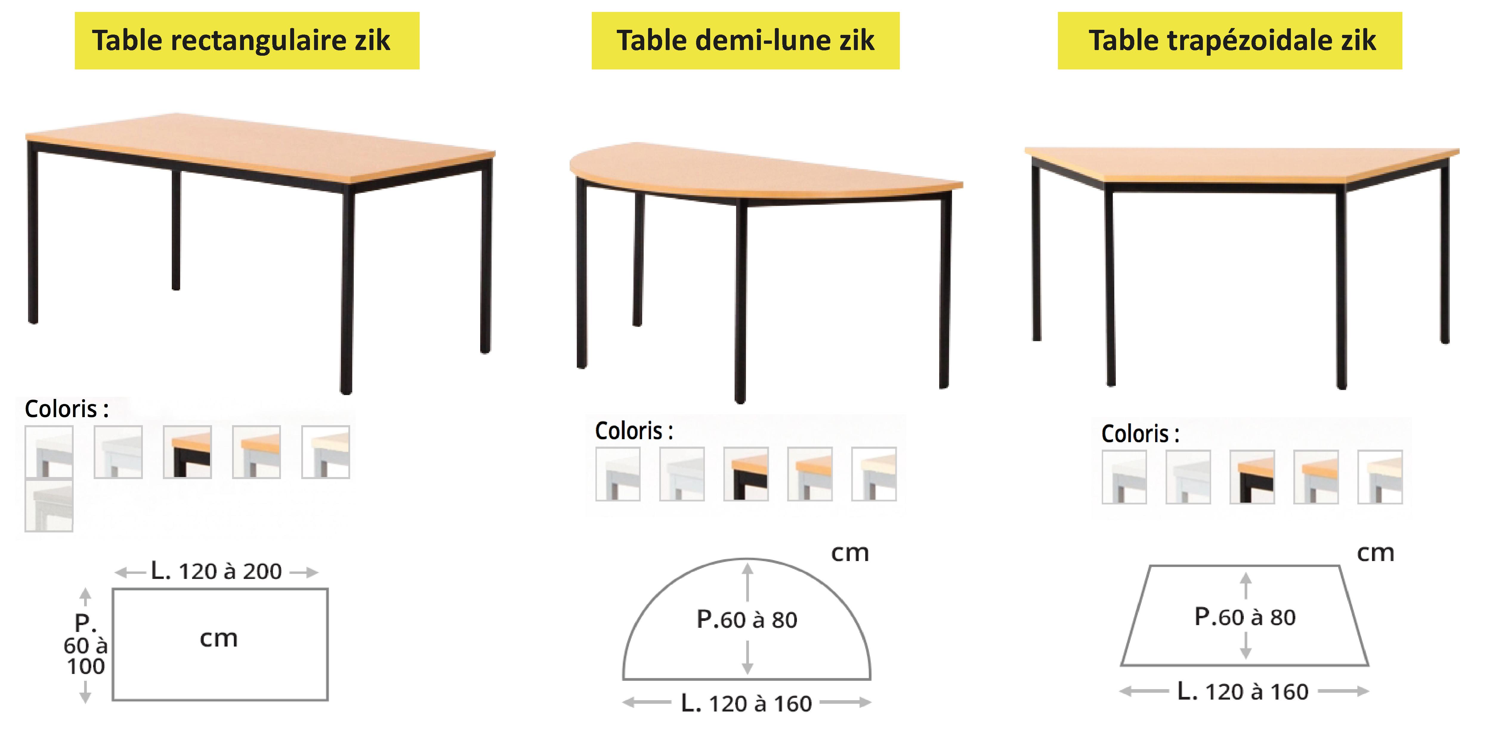 table de réunion polyvalente