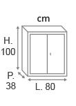 H.100 x L.80 x P.38 cm