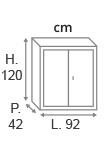 H.120 x L.92 x P.42 cm