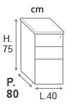 prof. 80 cm
