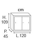 H.109 x L.120 x P.45 cm