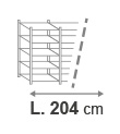 L. 204 cm