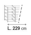 L. 229 cm
