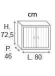 H72,5 x L80 x P46 cm