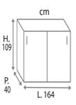 H.109 cm