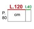 L.160xP.80 cm