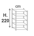 H. 220 cm