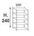 H. 240 cm